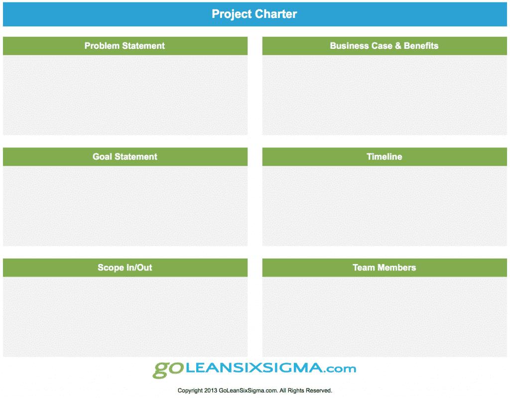 Project Charter - GoLeanSixSigma.com