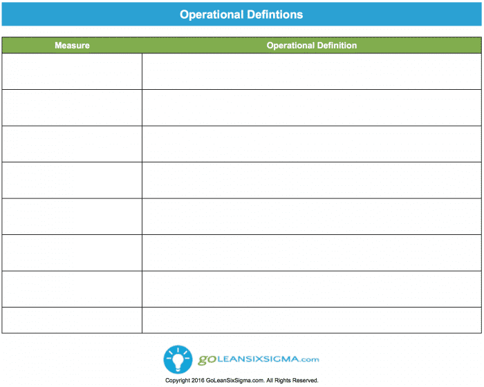 Operational Definitions V3.0 GoLeanSixSigma.com