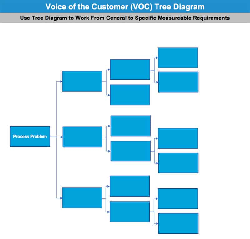 Voice of the Customer (VOC) Tree Diagram - GoLeanSixSigma.com