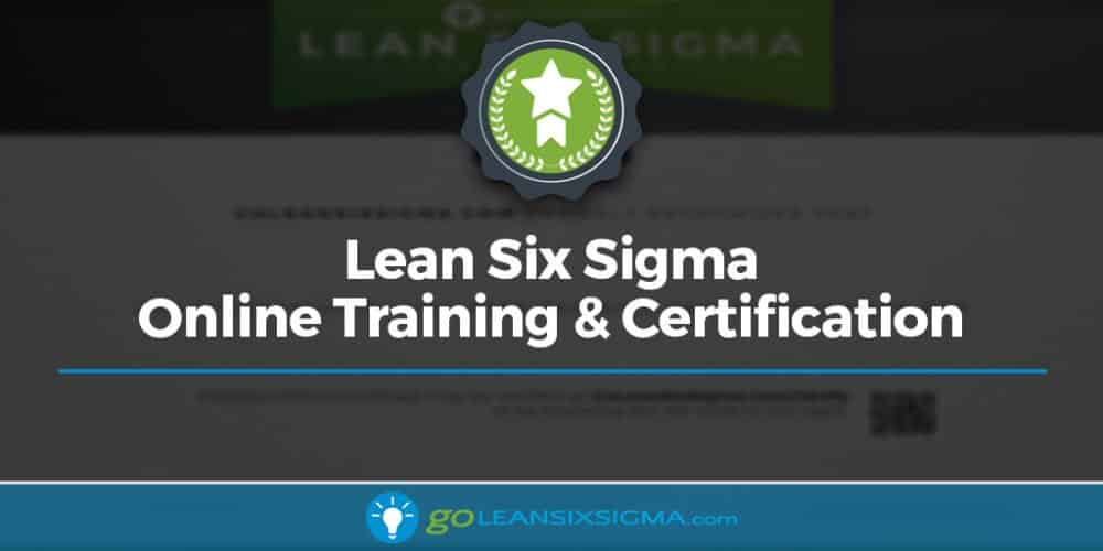 Online Lean Six Sigma Training Certification
