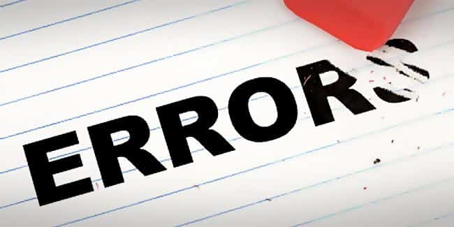 Six Sigma Database Errors