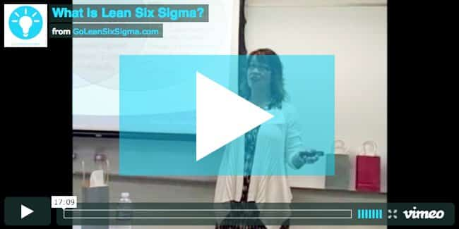 What Is Lean Six Sigma Video