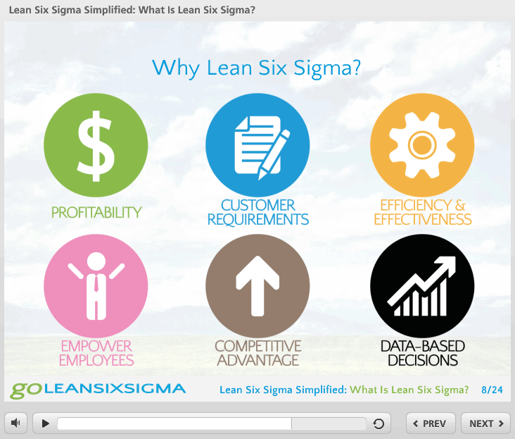 What Is Lean Six Sigma Webinar Screen Shot