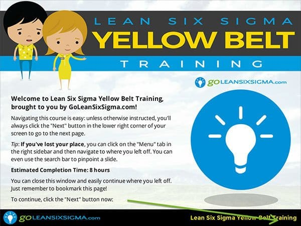 Yellow Belt Training - GoLeanSixSigma.com