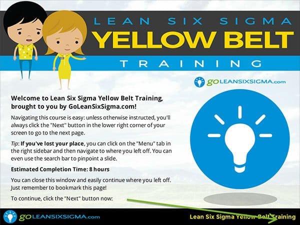 Yellow Belt Training - GoLeanSixSigma.com