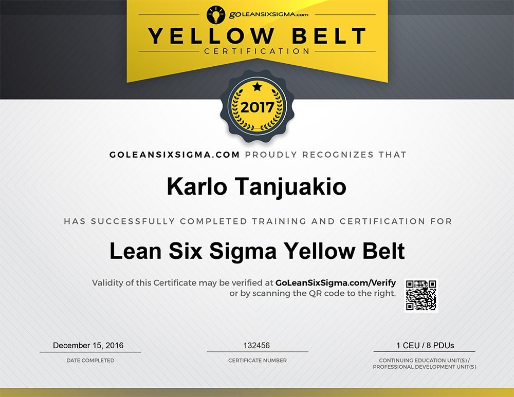 Lean Six Sigma Yellow Belt Certification - GoLeanSixSigma.com