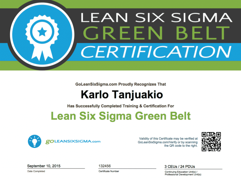 Lean Six Sigma Green Belt Certification Course Udemy Mandegarfo