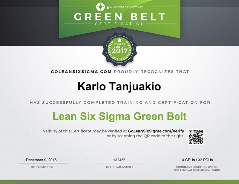 Lean Six Sigma Green Belt Training  Certification  GoleansixsigmaCom