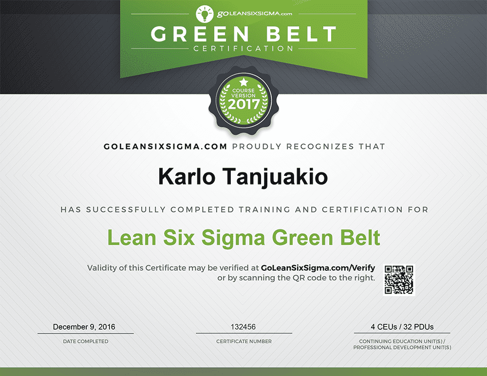 the best green belt training & certification - goleansixsigma