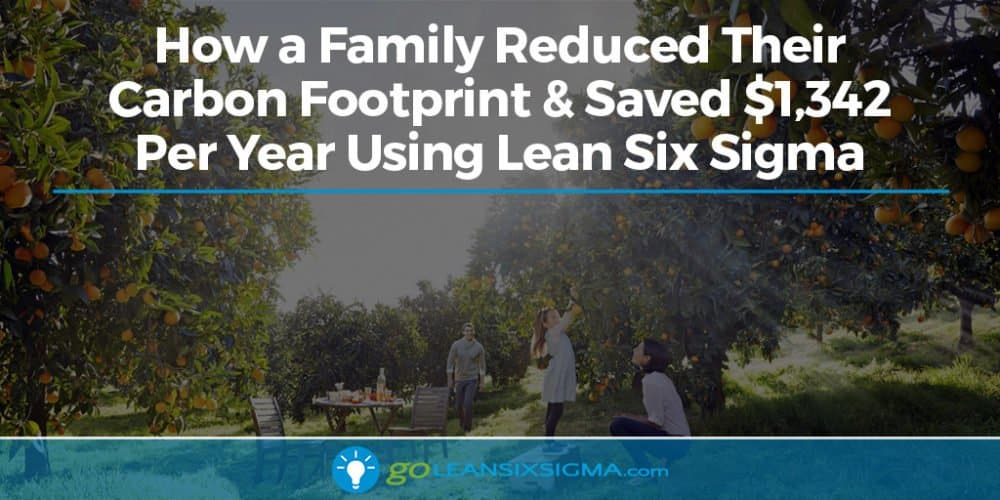 How a Family Reduced Their Carbon Footprint & Saved $1,342 Per Year Using Lean Six Sigma - GoLeanSixSigma.com