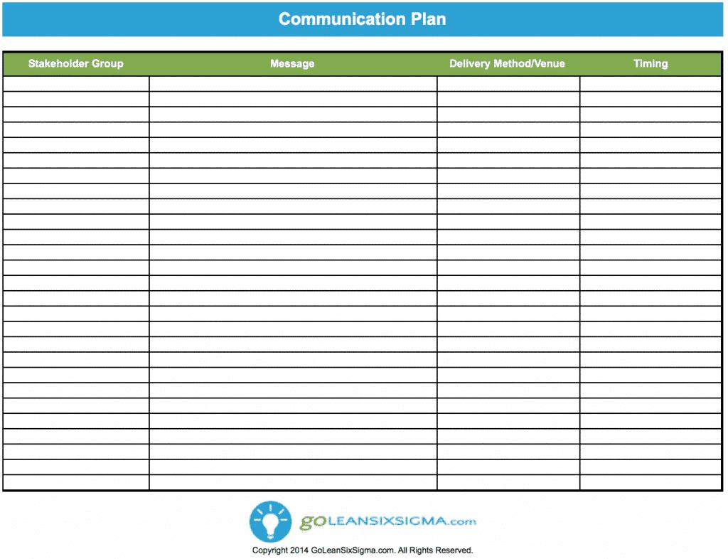 free communication plan template .