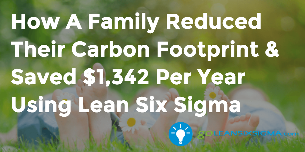 How A Family Recuded Their Carbon Footprint Using Lean Six Sigma – GoLeanSixSigma.com