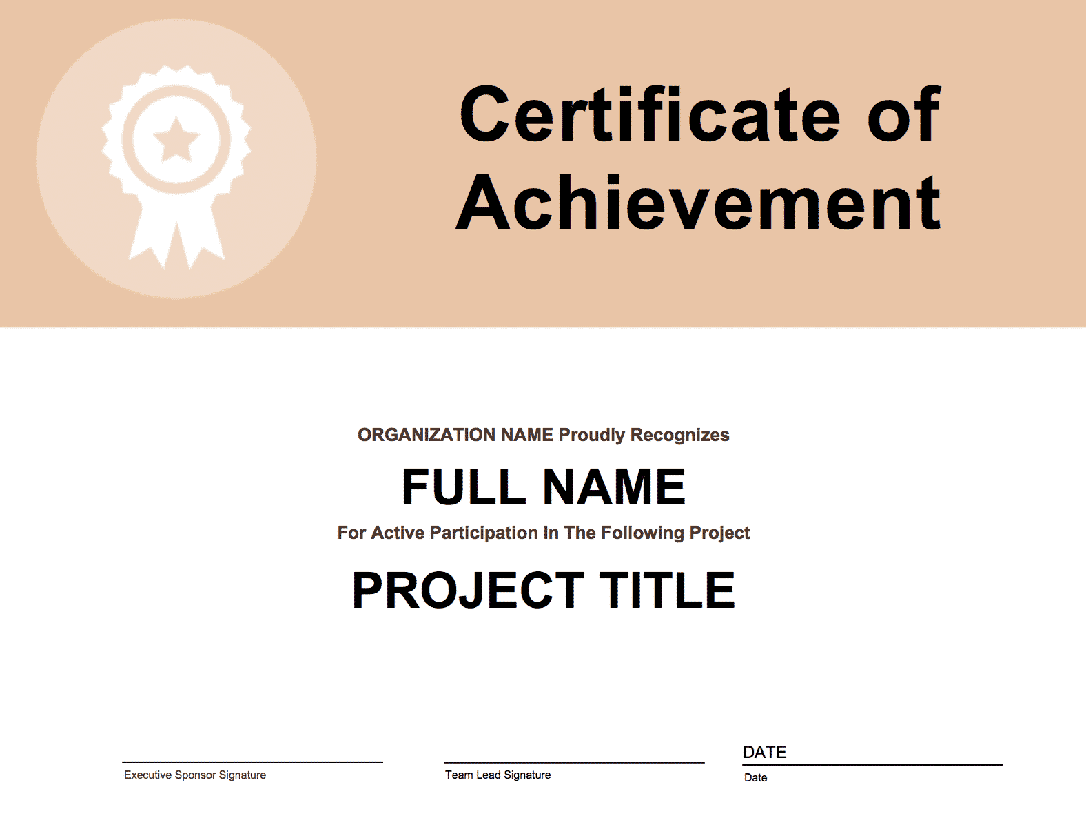 Lean templates archives goleansixsigma project participation certificate yadclub Gallery