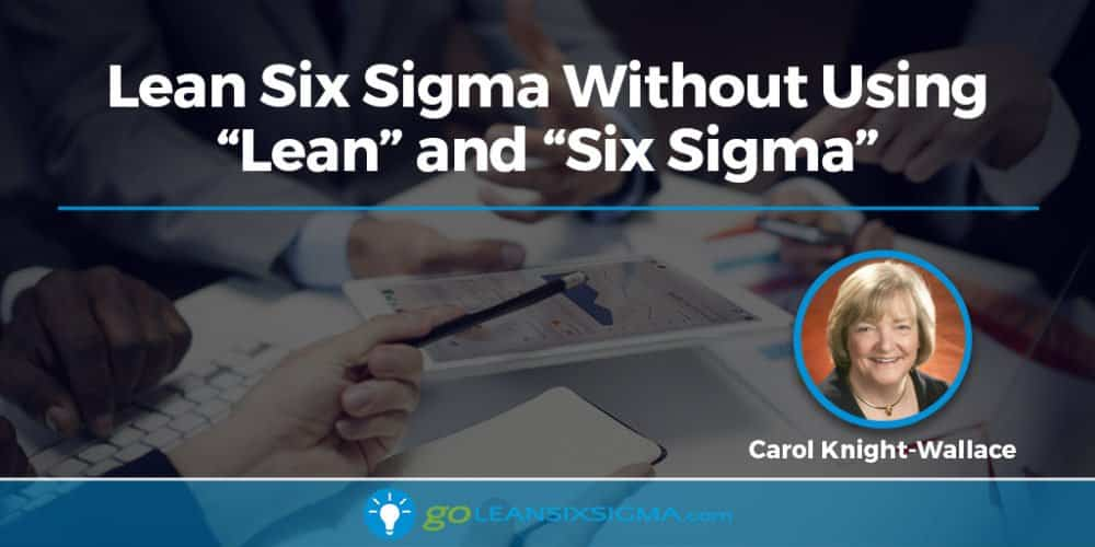 "Lean Six Sigma Without Using ""Lean"" And ""Six Sigma"" - GoLeanSixSigma.com"