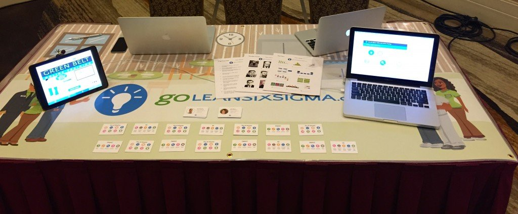 Visit our booth for free Lean Six Sigma Yellow Belt Training!