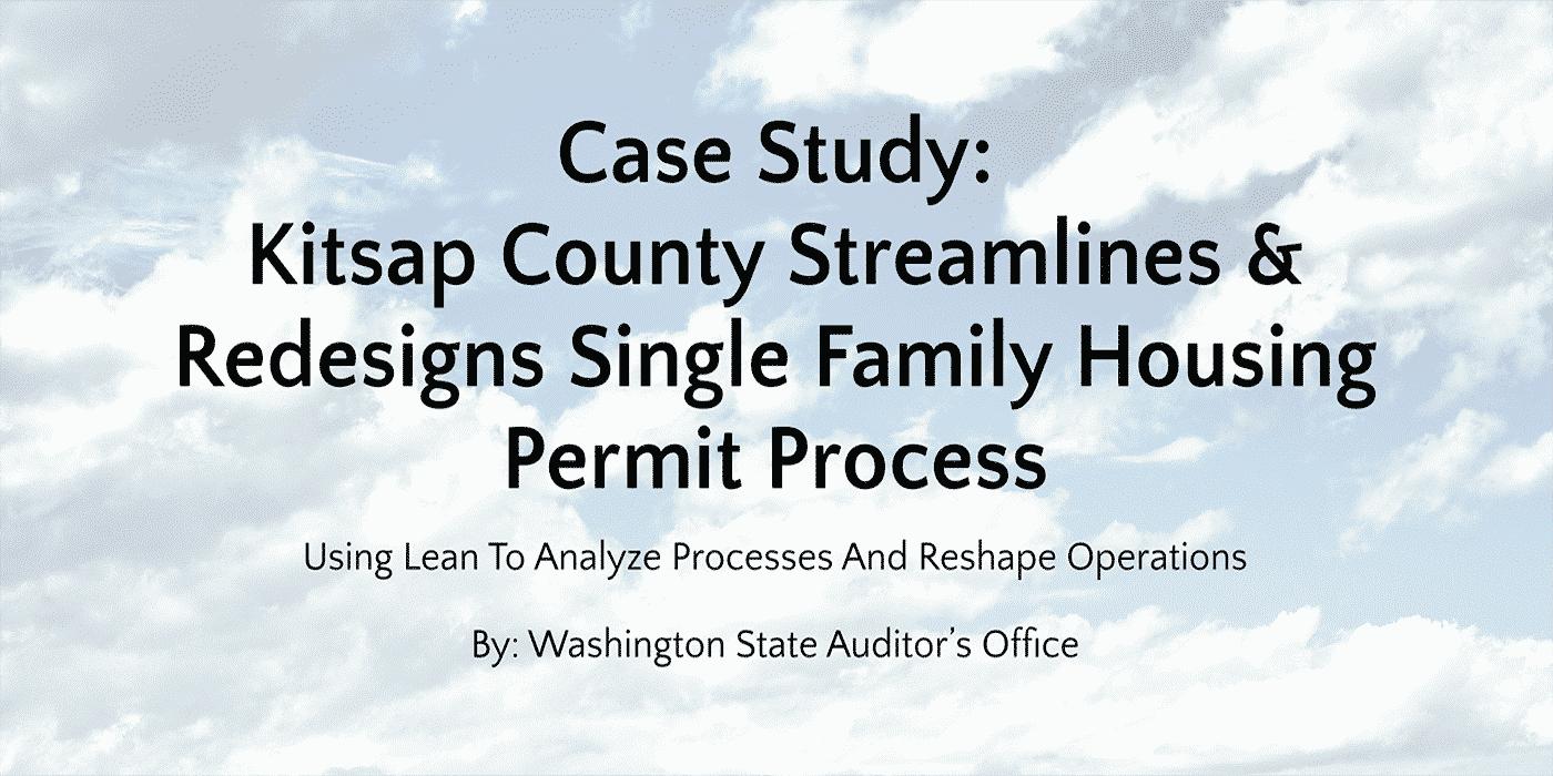 Case Study: Kitsap County – Summary – GoLeanSixSigma.com