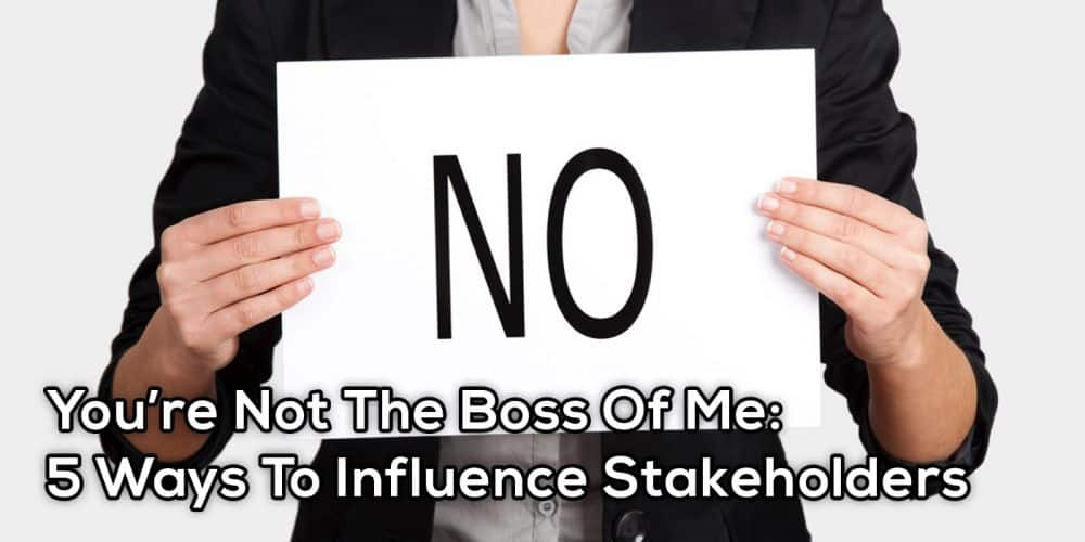 You're Not The Boss Of Me – GoLeanSixSigma.com