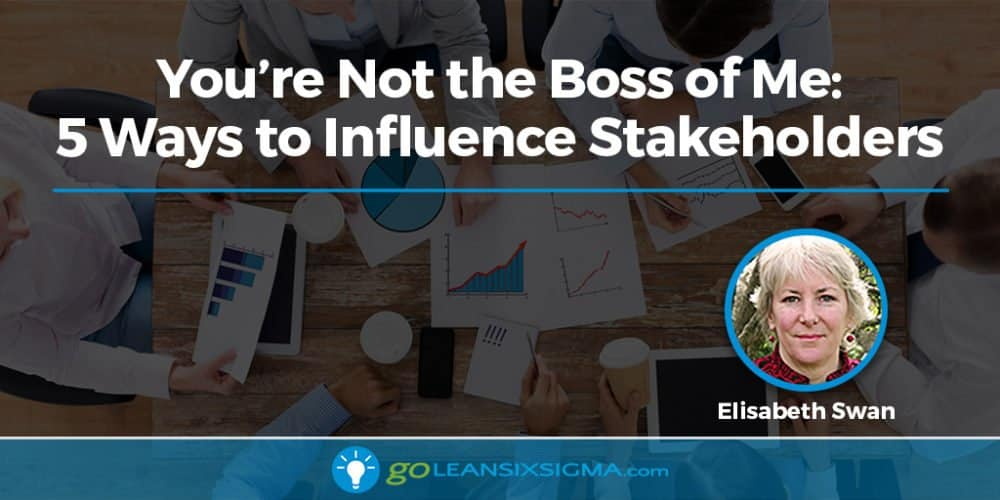 You're Not the Boss of Me: 5 Ways to Influence Stakeholders - GoLeanSixSigma.com