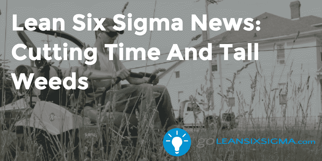 Lean Six Sigma News: Cutting Time And Tall Weeds – GoLeanSixSigma.com