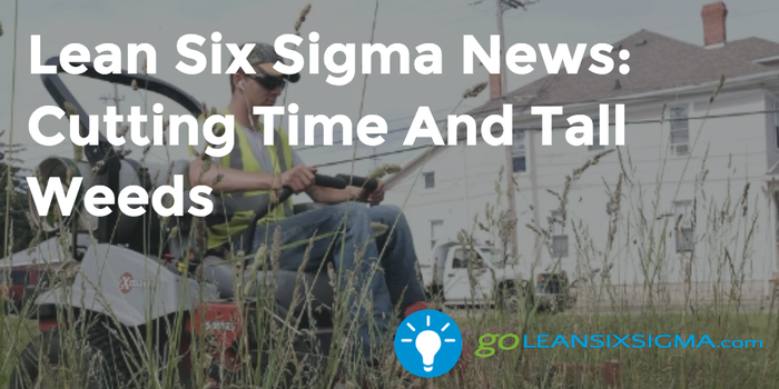 Lean Six Sigma News: Cutting Time And Tall Weeds - GoLeanSixSigma.com