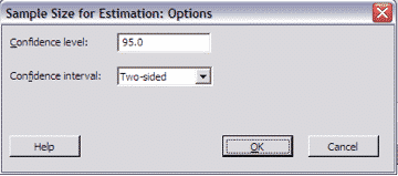 SampleSizeCalculationContinuous-Minitab-Options
