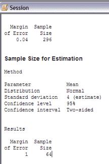 SampleSizeCalculationContinuous-Minitab-Session