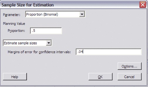 SampleSizeCalculationDiscrete-Minitab-Estimation