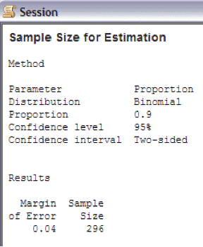 SampleSizeCalculationDiscrete-Minitab-Session-2