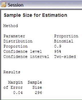 SampleSizeCalculationDiscrete-Minitab-Session-2