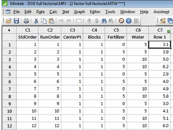 DOE-Minitab-TwoFactorial-7-Array