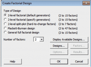 DOE-OFAT-Minitab-2-Designs