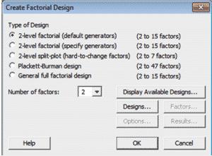 DOE-OFAT-Minitab-2-Designs