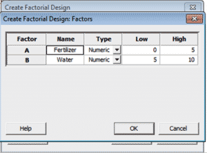 DOE-OFAT-Minitab-5-Designs-Factors