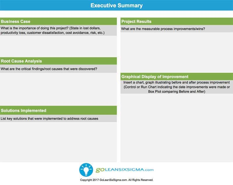 Executive Summary - GoLeanSixSigma.com