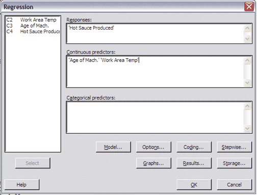 MultipleRegressionTest-Minitab-Settings