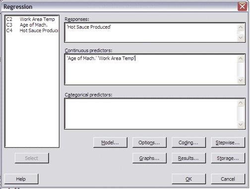 MultipleRegressionTest-Minitab-Settings
