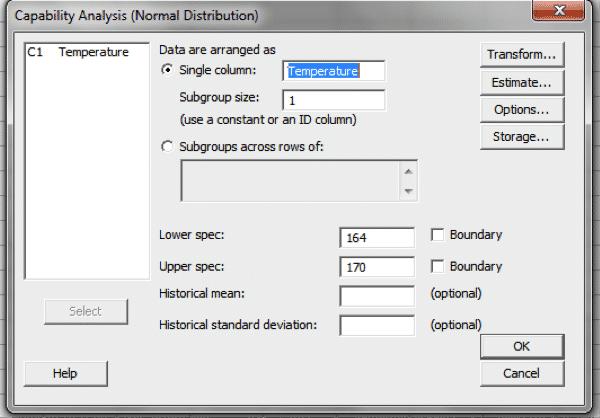 ProcessCapability-Minitab-Settings