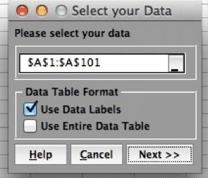 ProcessCapability-SigmaXL-SelectData