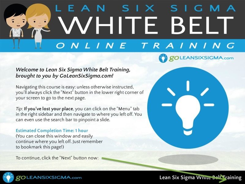 Screen Shot 1 Lean Six Sigma White Belt Training Goleansixsigma Com