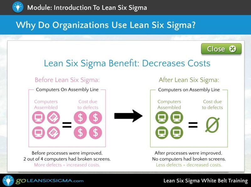 Screen Shot 6 Lean Six Sigma White Belt Training Goleansixsigma Com