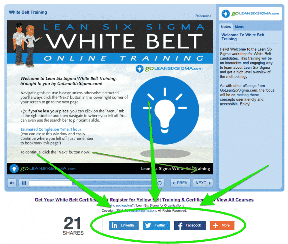 Share White Belt
