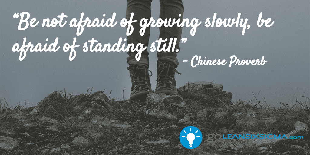 Be Not Afraid Of Growing Slowly, Be Afraid Of Standing Still – GoLeanSixSigma.com