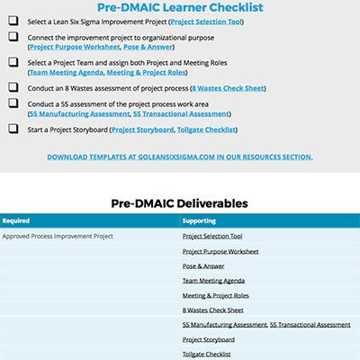 Go-Getters Guide To Coaching DMAIC - GoLeanSixSigma.com