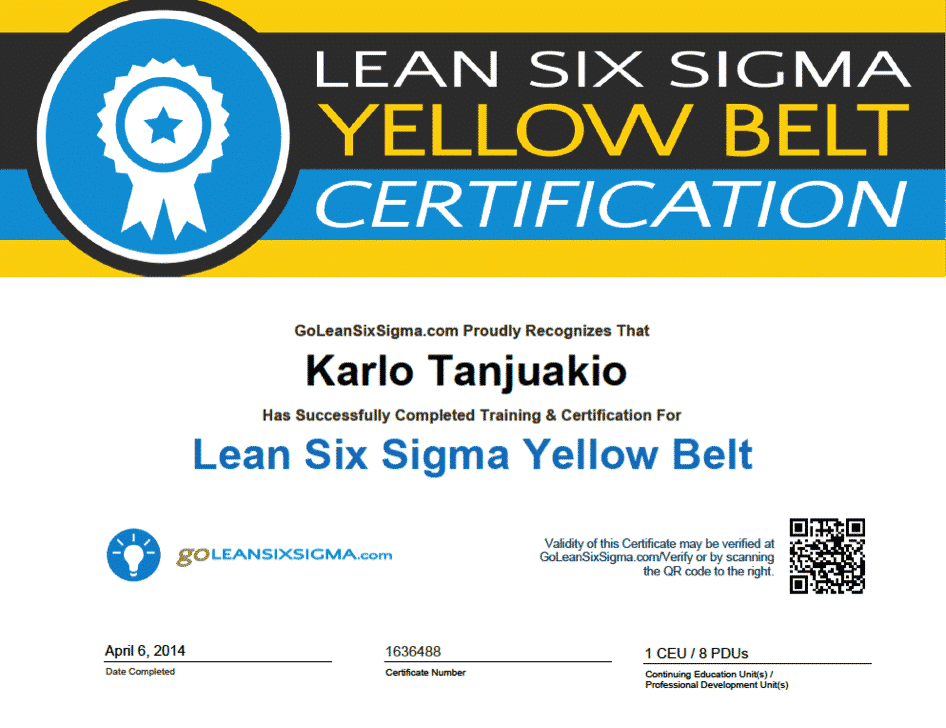 Free Online Six Sigma Yellow Belt Certification Images - creative ...