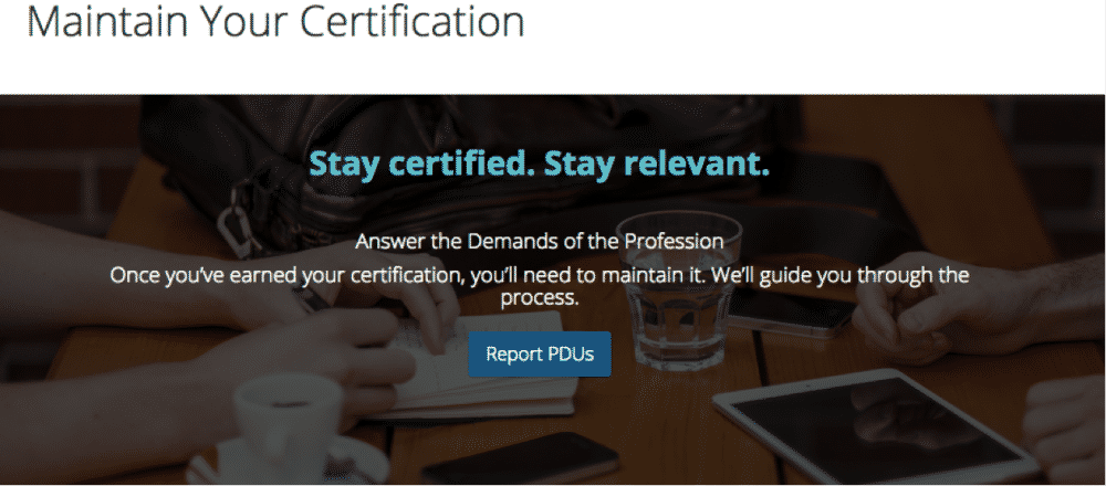 Maintain Your Certification - PDUs