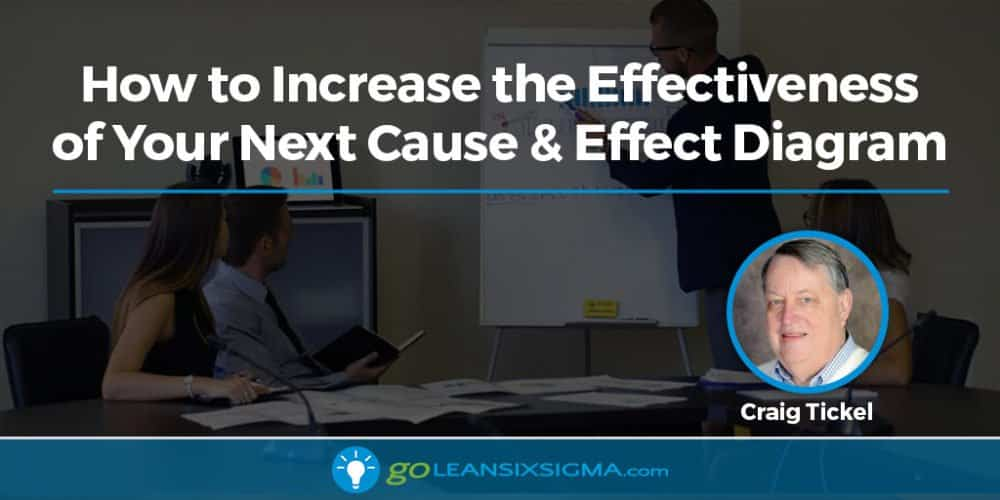 Blog Banner How Increase Effectiveness Cause Effect Diagram Craig Tickel Goleansixsigma Com