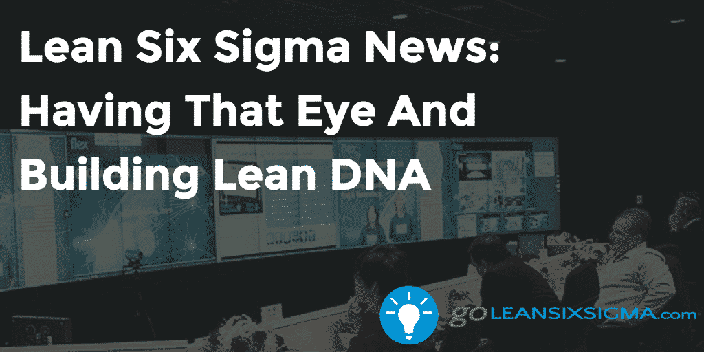 Lean Six Sigma News – Having That Eye And Building Lean DNA – GoLeanSixSigma.com