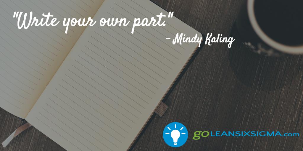 Write Your Own Part – GoLeanSixSigma.com