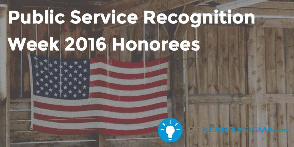Public Service Recognition Week 2016 Honorees