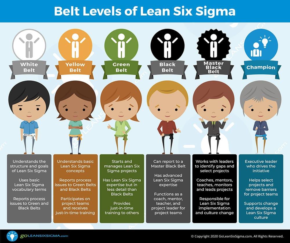 Belt Levels of Lean Six Sigma - GoLeanSixSigma.com